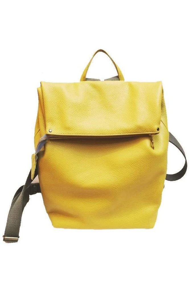 Nancy Yellow Leather Rucksack 🌻 - Coco Barclay