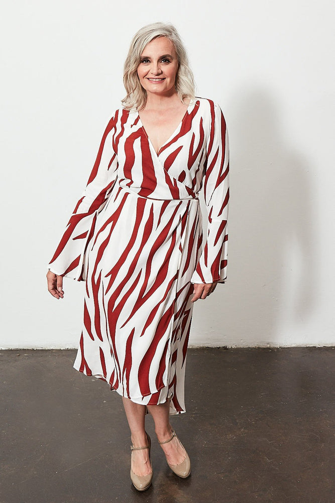 Nicky Print Wrap Dress