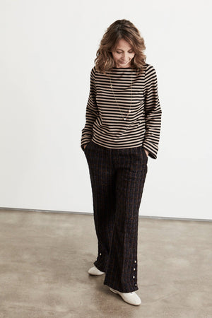 Load image into Gallery viewer, Nolene Boucle Trousers Size UK 8 / EU 36 / US 4 - Baum Und Pferdgarten at The Bias Cut