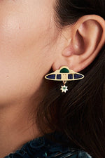Nucleus Statement Earrings - Milk Tooth at The Bias Cut
