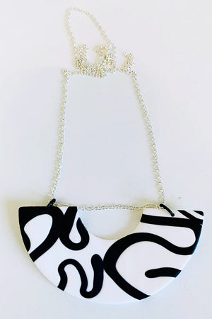 Octopussy White Statement Necklace - No Shrinking Violet