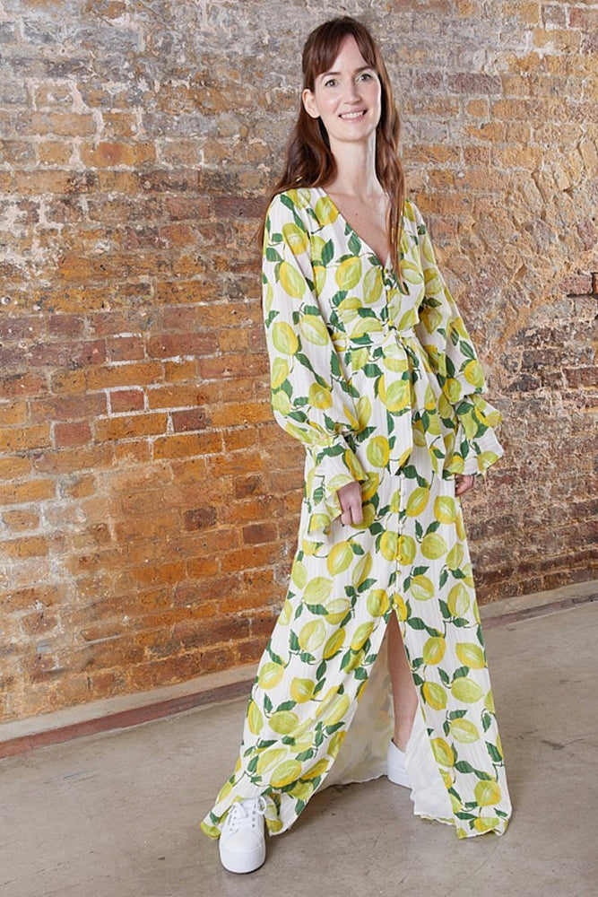 Outshine The Bride Lime Print Dress