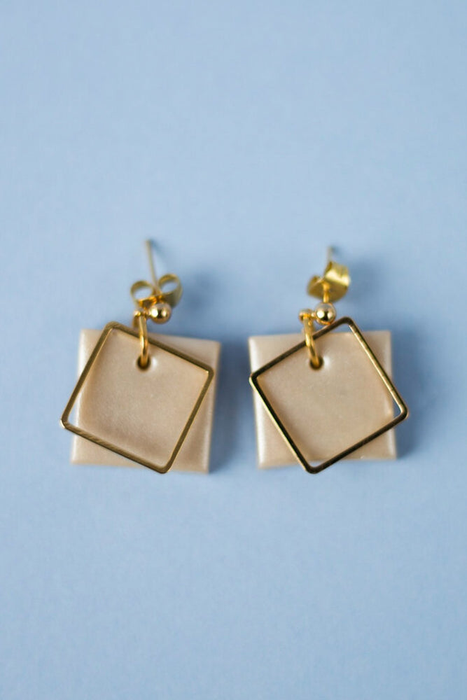 Pearl Earrings - Cloud + Clay at The Bias Cut