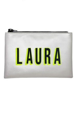 Personalised Metallic Clutch Bag (available in multiple colour ways) - I KNOW THE QUEEN at The Bias Cut
