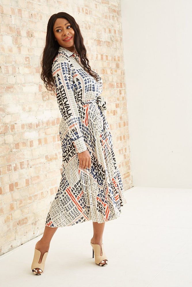 Pleated Midi Length Dress With Belt - Scotch & Soda at The Bias Cut