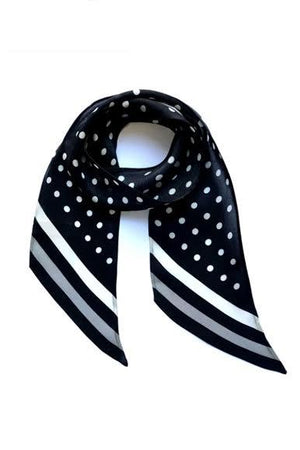Polka Dot Silk Neck Scarf Black - Ingmarson at The Bias Cut