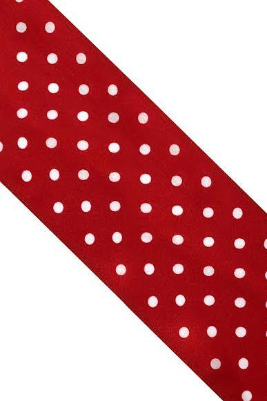 Polka Dot Silk Neck Scarf Flame Scarlet - Ingmarson at The Bias Cut