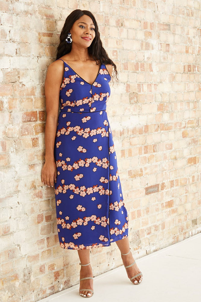 Printed Chiffon Slip Dress - Scotch & Soda at The Bias Cut