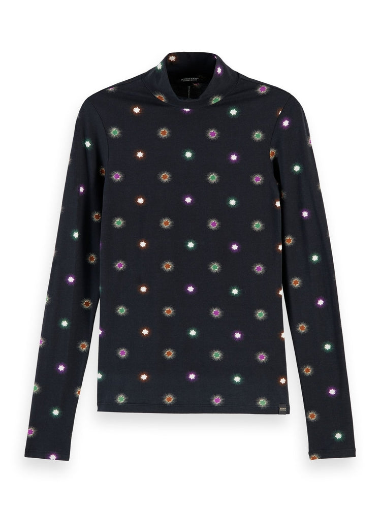 Printed Long Sleeve Starburst Tee - Scotch & Soda