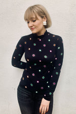 Printed Long Sleeve Starburst Tee - Size S