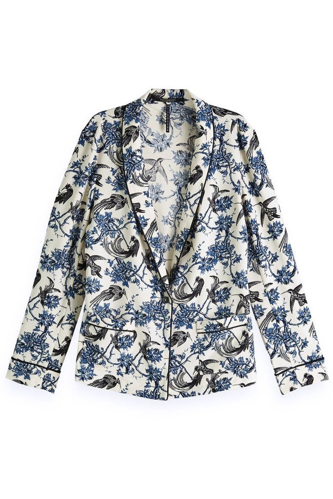 Printed Pyjama Blazer - Scotch & Soda at The Bias Cut