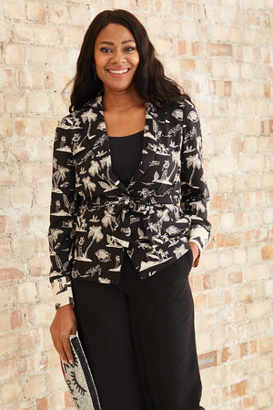 Load image into Gallery viewer, Printed Pyjama Blazer With Belt - Scotch & Soda at The Bias Cut