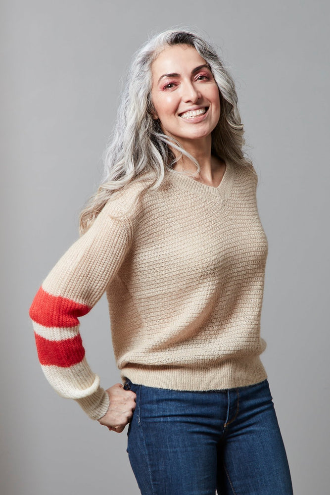 Pullover Knit with Colourblocked Sleeve - Scotch & Soda at The Bias Cut