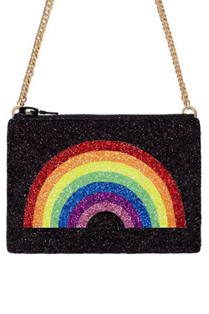 Rainbow Glitter Cross-Body Bag - I KNOW THE QUEEN at The Bias Cut