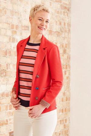 Raspberry Full of Luck Blazer - POM Amsterdam at The Bias Cut