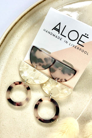 Retro Blonde Tortoiseshell Triple Stud - ALOË at The Bias Cut
