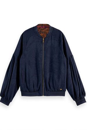 Scotch & Soda Reversible Printed Bomber Jacket at The Bias Cut