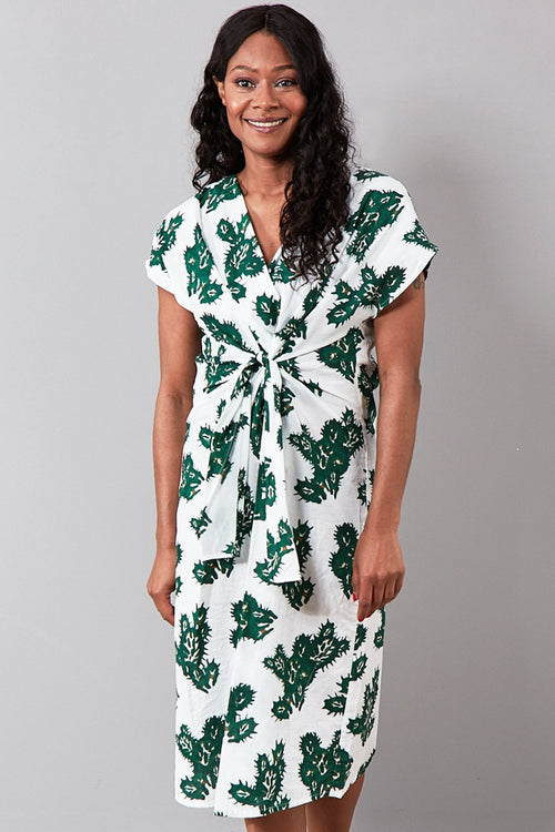 Rosalba Cactus Print Cotton Dress - Diega