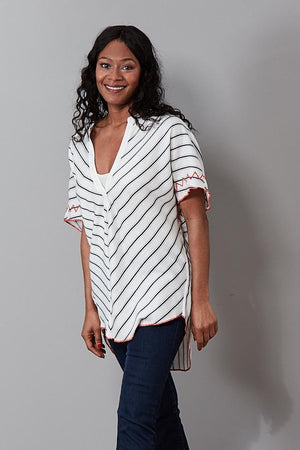 Rowan Stripe Tunic - Charli at The Bias Cut