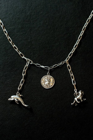 Safe Travels On Land And Sea Sterling Silver One-Of-A-Kind Necklace - Hooked at The Bias Cut