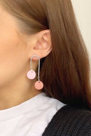 Load image into Gallery viewer, Sienna Earrings - Cloud + Clay at The Bias Cut