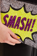 Smash Glitter Clutch Bag - I KNOW THE QUEEN
