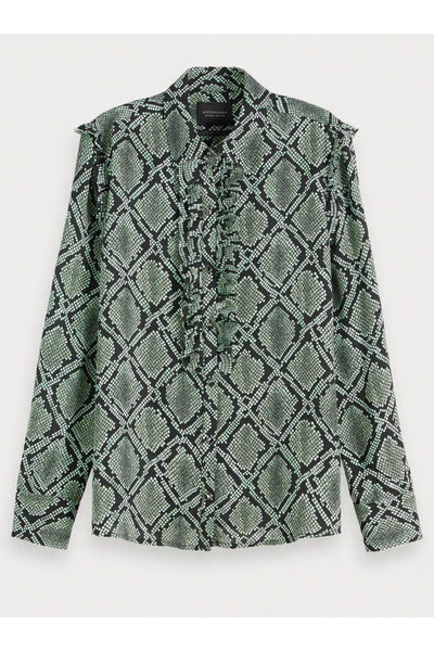 Snake Print Blouse - Scotch & Soda