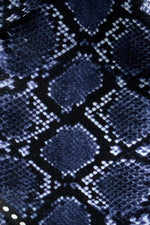 Snakeskin Silk Neck Scarf Blue - Ingmarson at The Bias Cut