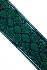 Snakeskin Silk Neck Scarf Green - Ingmarson at The Bias Cut