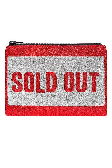 Sold Out Glitter Clutch Bag - I KNOW THE QUEEN