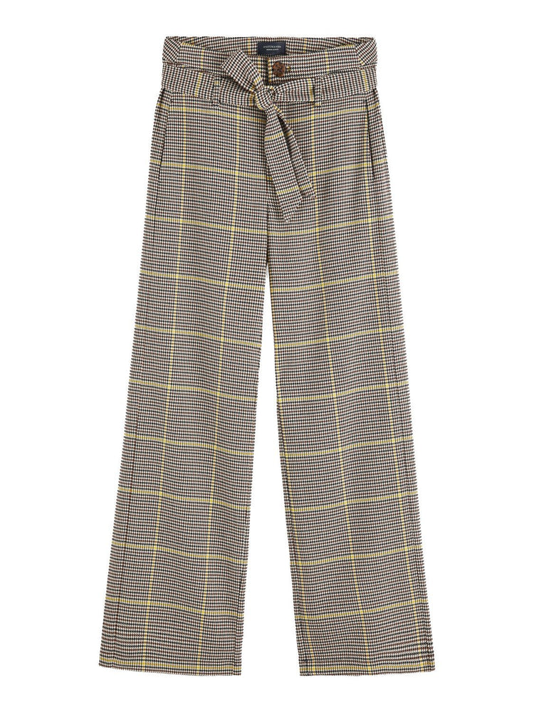 Special Check High-Waist Wide Leg Trousers - Pre-Order - Scotch & Soda