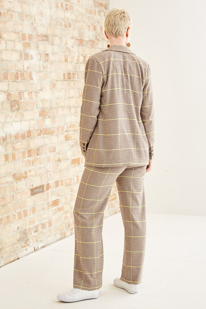 Special Check Longer-Length Double-Breasted Blazer - Scotch & Soda at The Bias Cut