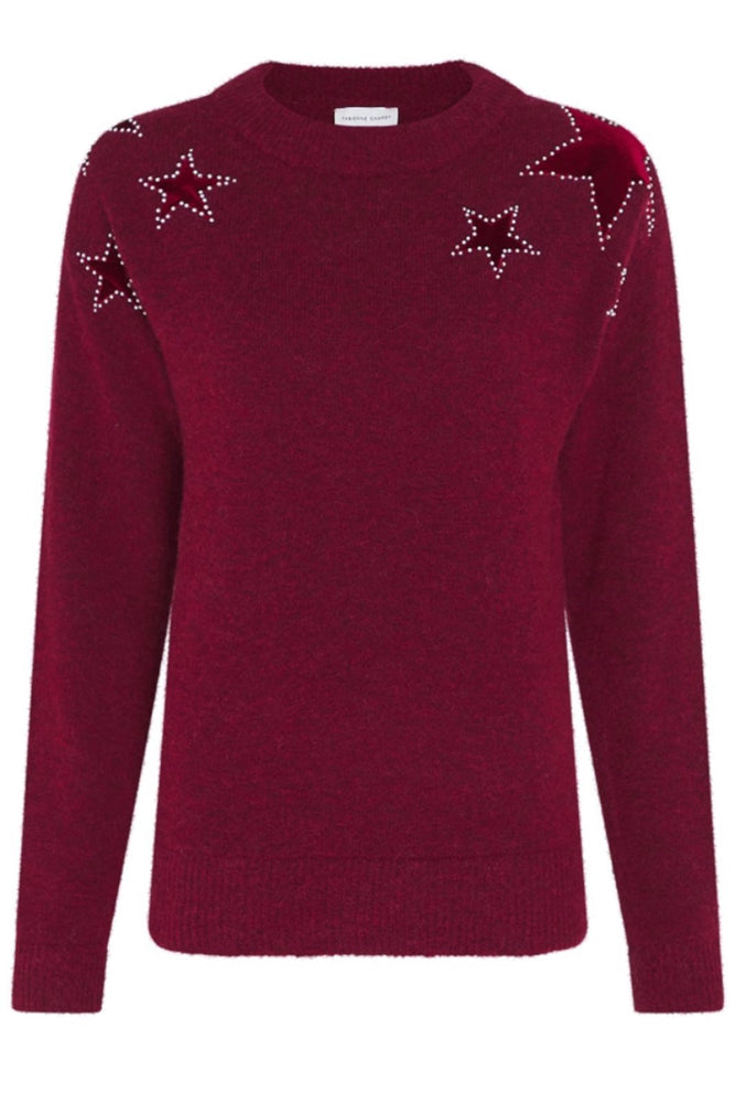 Star Pullover in Parrot Purple - Fabienne Chapot