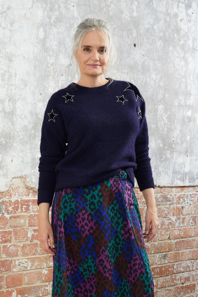 Star Pullover Navy - Fabienne Chapot at The Bias Cut