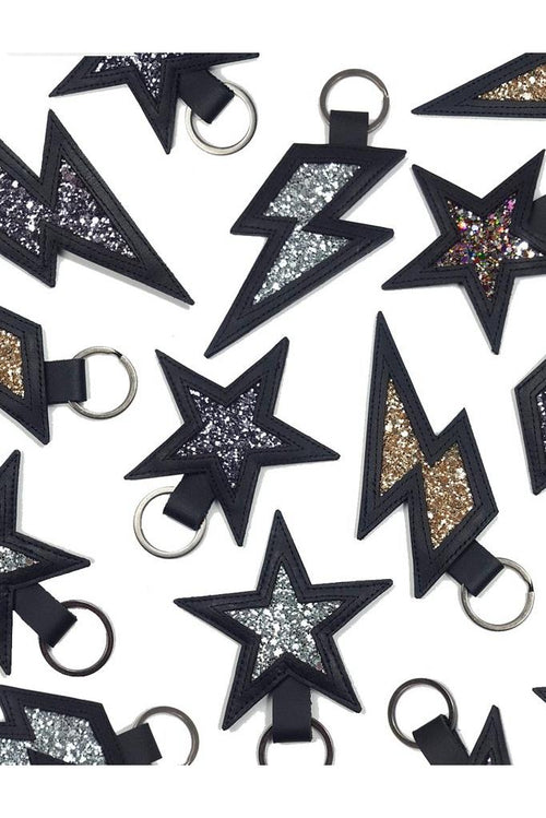 Stardust Leather and Glitter Keyring 🌈♥️⭐ - Dark Horse Ornament