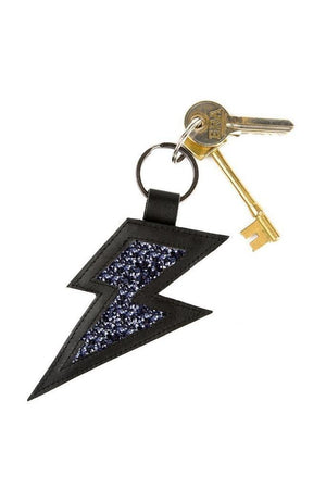 Stardust Leather and Glitter Keyring - Dark Horse Ornament at The Bias Cut