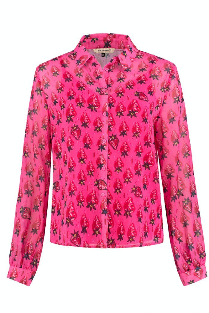 Strawberry Pink Blouse - POM Amsterdam at The Bias Cut