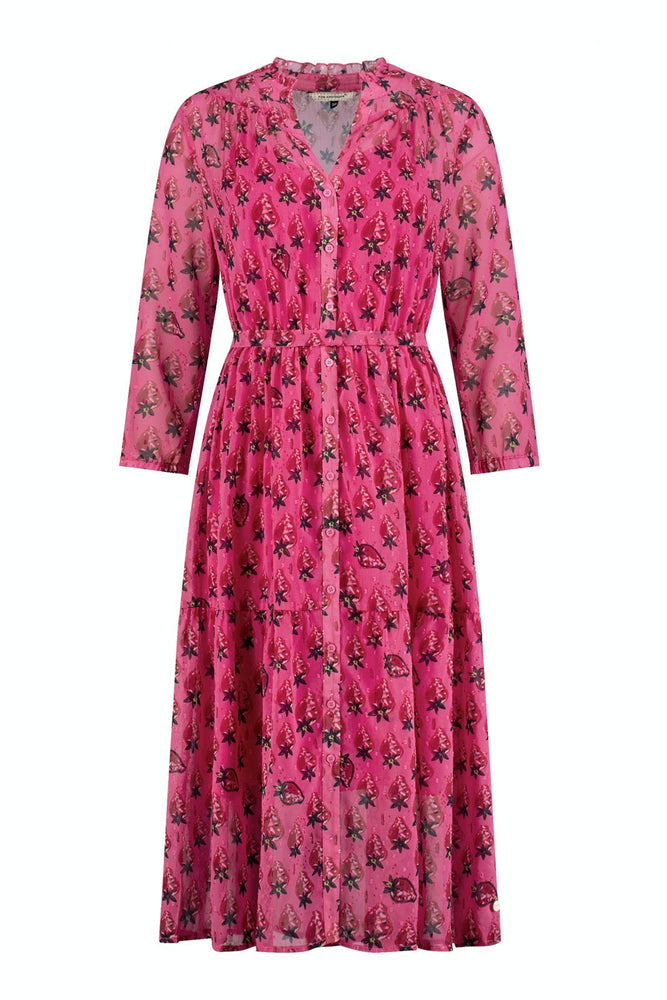 Strawberry Pink Dress - POM Amsterdam at The Bias Cut