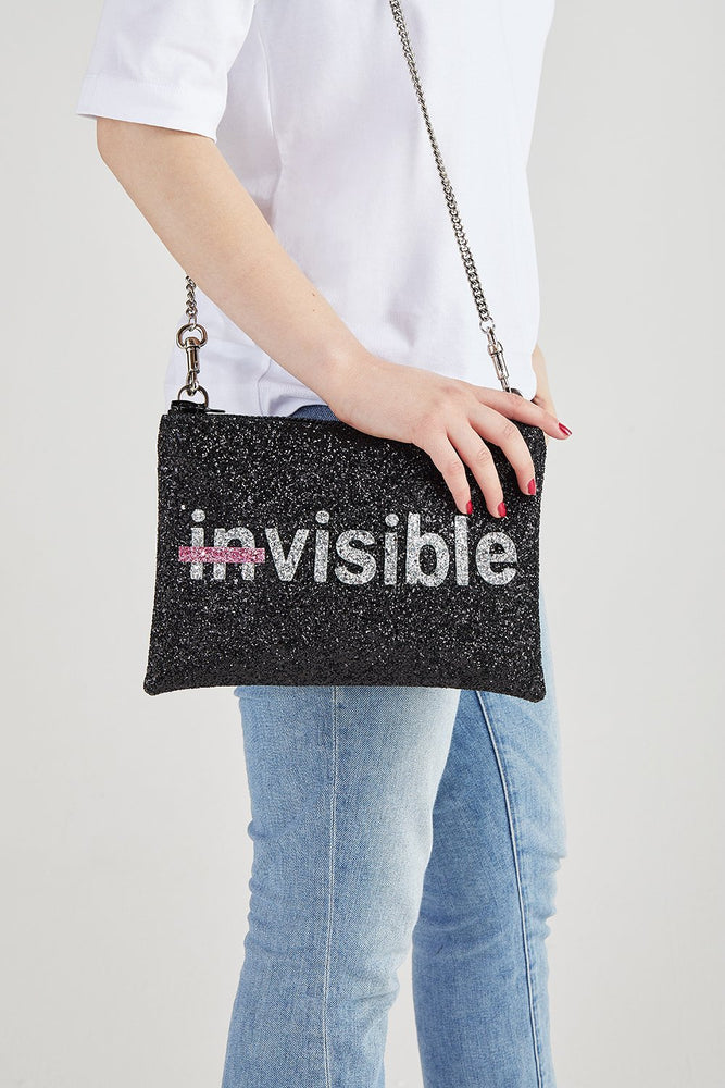Strike Out Ageism Charity Glitter Reversible Clutch / Crossbody Bag