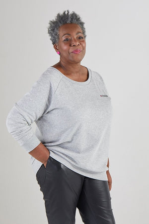 Strike Out Ageism Charity Grey Sweatshirt (3 slogan options) - Jacynth London at The Bias Cut