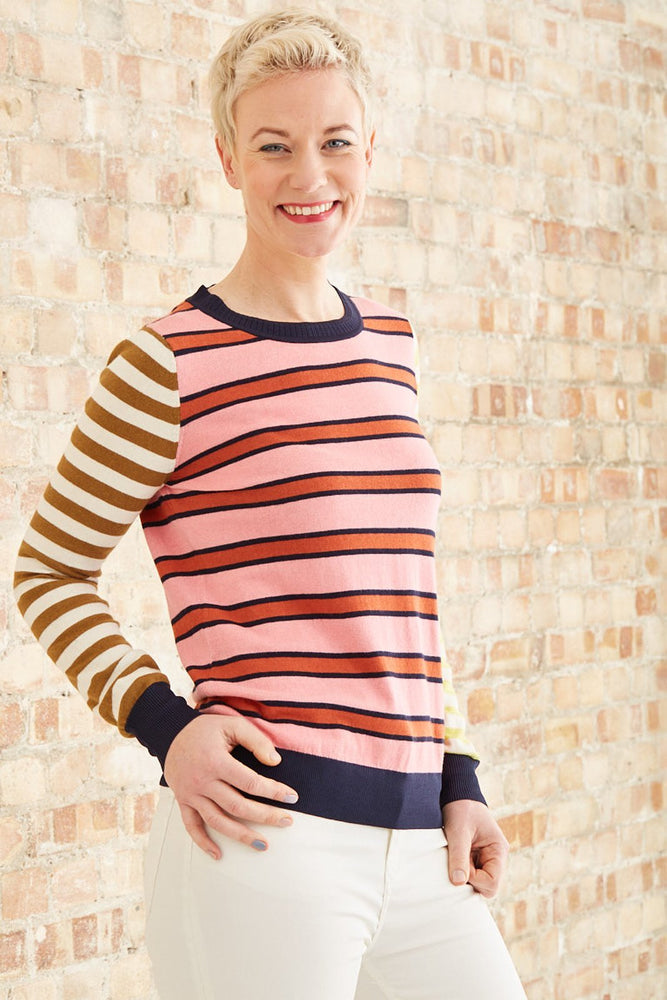 Striped Basic Crewneck Pullover - Scotch & Soda at The Bias Cut
