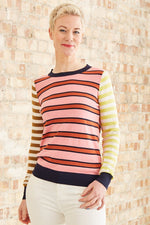 Striped Basic Crewneck Pullover