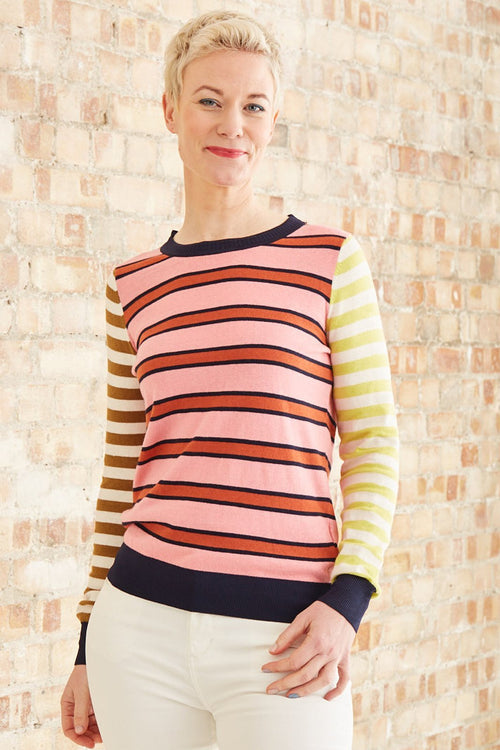 Striped Basic Crewneck Pullover - Scotch & Soda