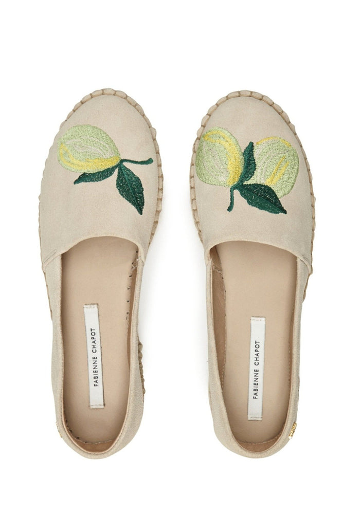 Fabienne Chapot Summer Lime Embroidered Espadrilles