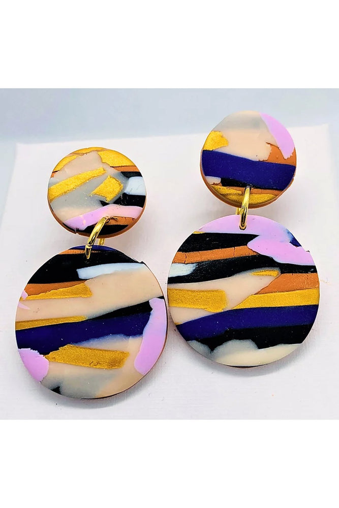 Load image into Gallery viewer, Sunburnt County Landscape Medium Earrings - No Shrinking Violet