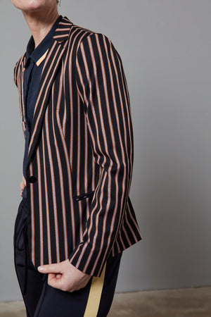Tailored Blazer in Stripes and Solids - Scotch & Soda at The Bias Cut