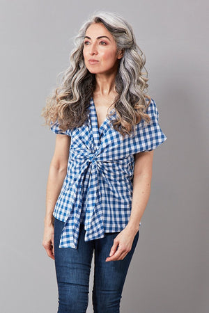 Load image into Gallery viewer, Talita Gingham Cotton Top - Diega