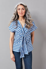 Talita Gingham Cotton Top