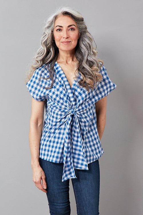 Talita Gingham Cotton Top - Diega
