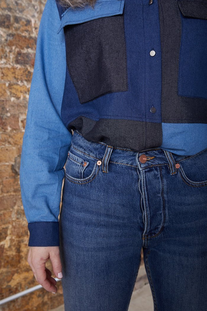Reiko Milo Mid Blue High Waisted Jeans at The Bias Cut